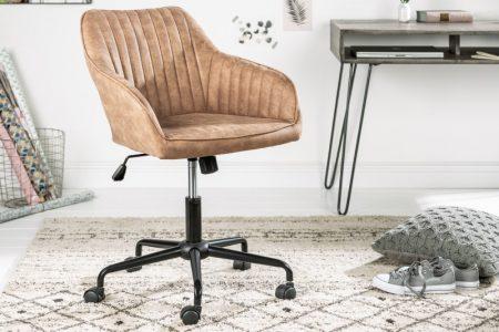 Kancelárska stolička Turin Armlehne taupe vintage