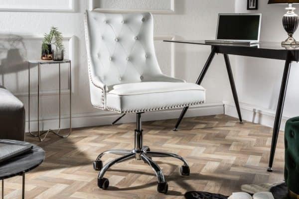 Kancelárska stolička Victorian biela Armlehne