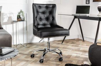 Kancelárska stolička Victorian čierna Armlehne