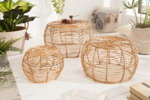 Konferenčný stolík set 3ks Bamboo Lounge ratan