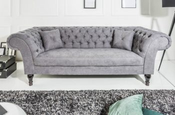 Sofa Euphoria 230cm sivá bavlna