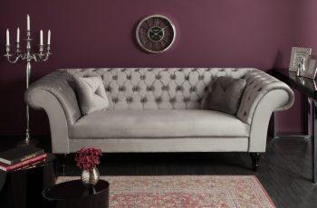 Sofa Euphoria 230cm striebornošedá zamat
