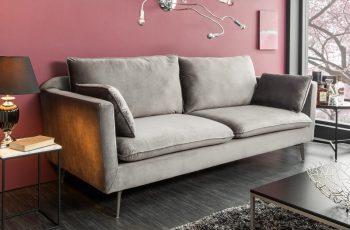 Sofa Famous 210cm striebornošedá zamat