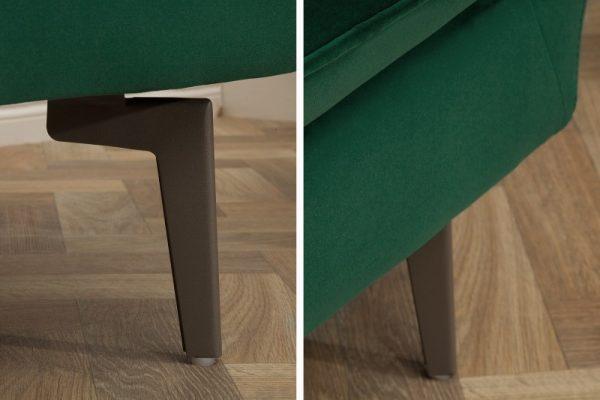 Sofa Famous 210cm zelená zamat