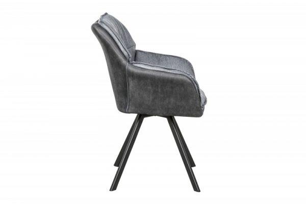 Stolička Lounger sivá anthr. Armlehne