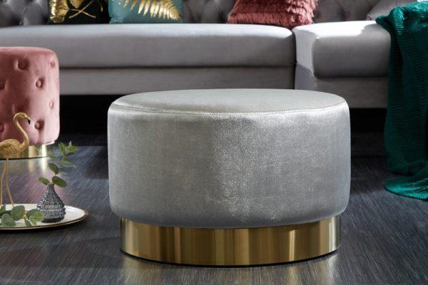 Taburet Modern Barock 55cm strieborná zlatá