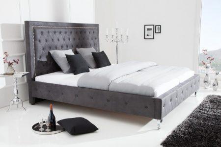 Sivá posteľ Extravagancia 180x200cm