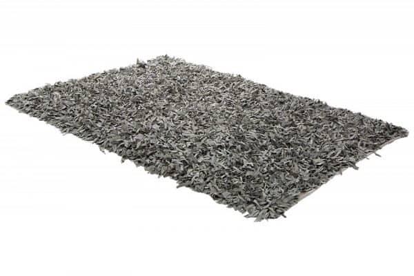 Sivý kožený koberec Wild West 140x200cm »