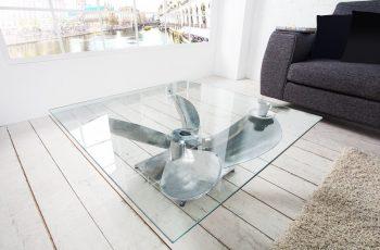 sklo Konferenčný stolík Ocean 85cm- 36469G