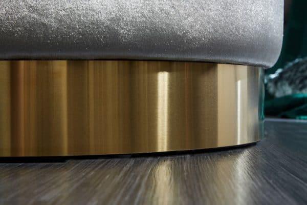 Strieborno-zlatý taburet Modern Barock 55cm »