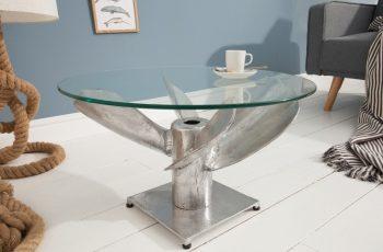 Sklenená doska na konferenčný stolík Ocean 60cm »