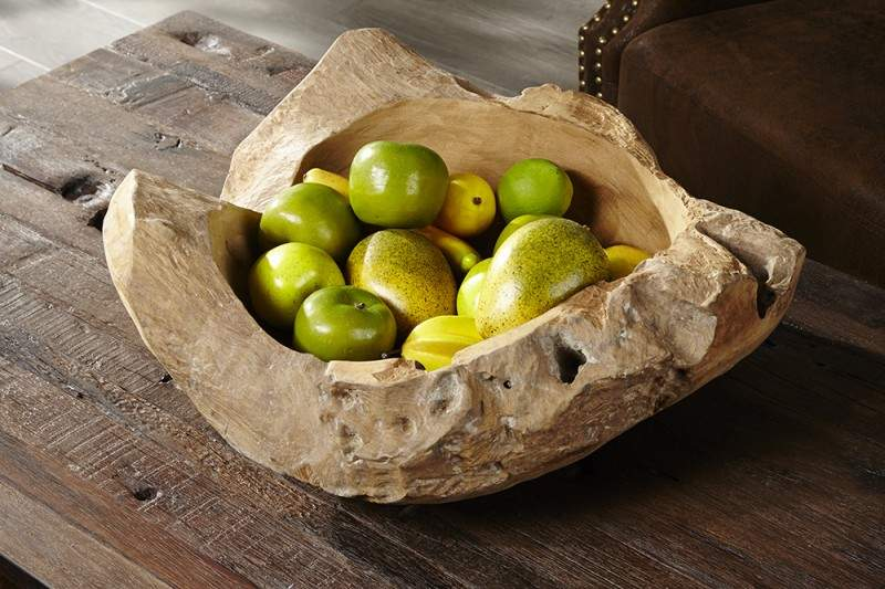 Wabi-Sabi Miska zteakového dreva