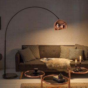 Stojanová lampa Big Bow 170-210cm rosezlatá