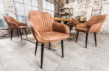 Stolička Turin Armlehne vintage hellhnedá