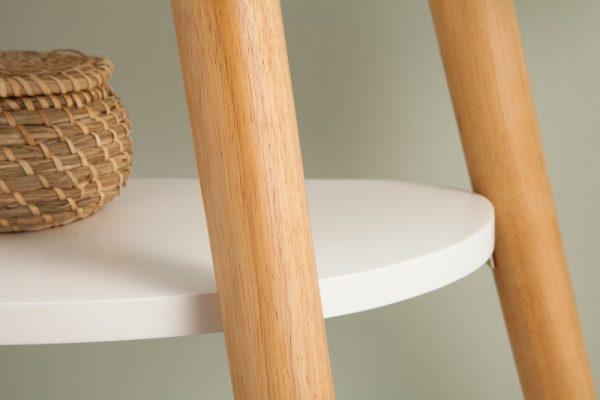 Stolík Scandinavia 95cm biela dub