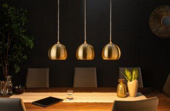 Závesná lampa Golden Ball 3er zlatá