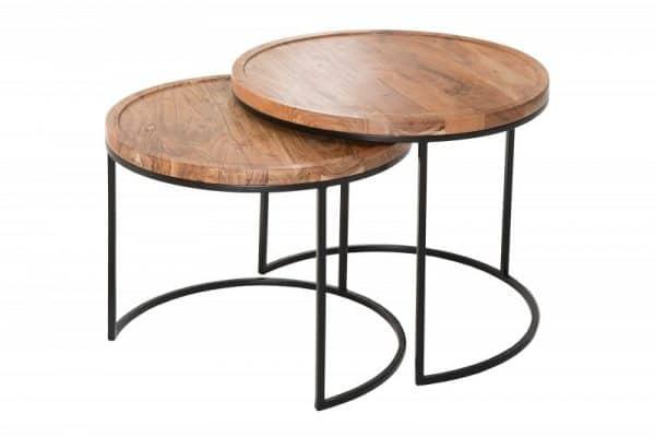 Čierny konferenčný stolík Elements set 2ks »