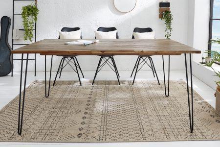Hnedý jedálenský stôl Spider 120cm
