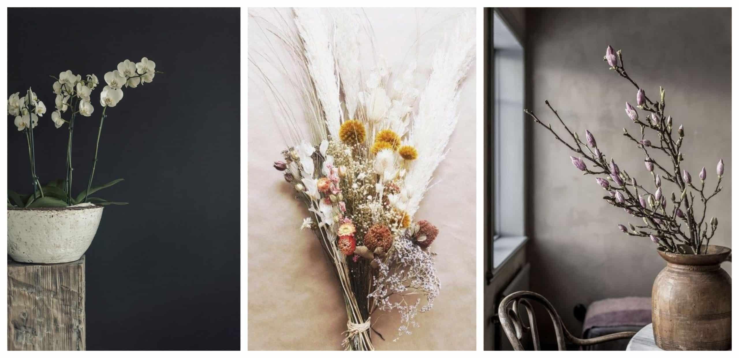 kvety v style Wabi-Sabi
