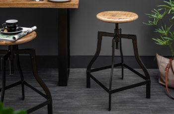 Barová stolička Iron Craft 60-74cm prírodná Mango