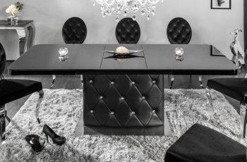 Jedálenský stôl Heritage 160-200cm čierna