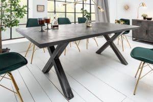 Jedálenský stôl Infinity Home 160cm sivá Mango