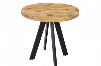 Jedálenský stôl Iron Craft 80cm rund prírodná Mango