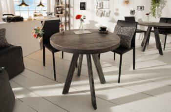 Jedálenský stôl Iron Craft 80cm rund sivá Mango