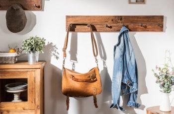 Nástenný vešiak Hemingway 90cm recyklované drevo