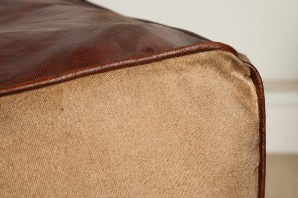 Pouf Mustang 45cm hnedá Leder plátno