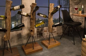 Regál na víno Hemingway 103cm teakové drevo