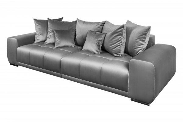 Sofa Elegancia 280cm striebornošedá zamat