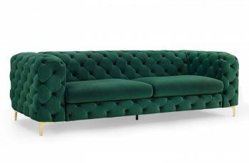 Sofa Modern Barock 240cm zelená zlatá