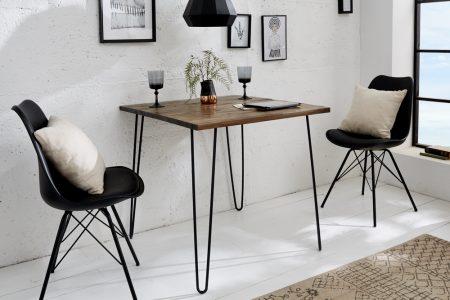 Hnedý jedálenský stôl Spider 80cm