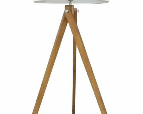 Stojanová lampa Tripod 155cm biela Retro