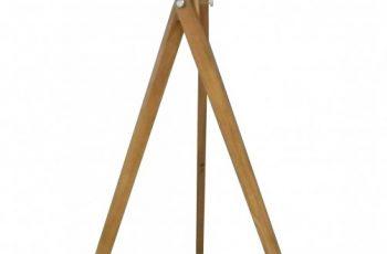 Stojanová lampa Tripod 155cm čierna Retro