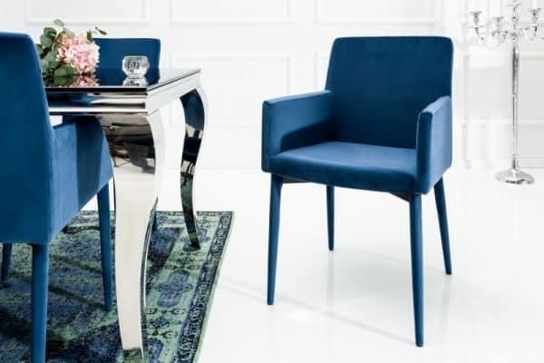 Stolička Milano königsblau Armlehne zamat