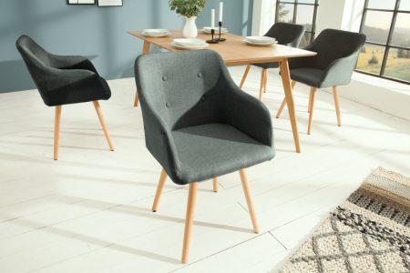 Stolička Scandinavia Armlehne Struktur sivá