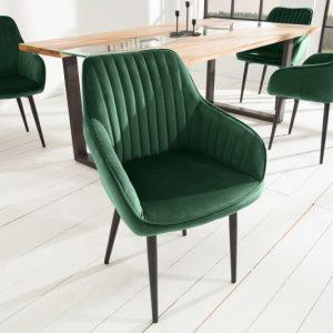 Stolička Turin Armlehne smaragdzelená