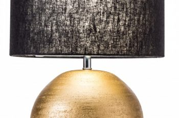 Stolová lampa Elegancia 45cm zlatá čierna