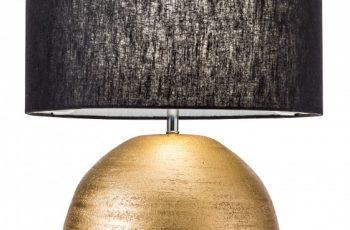 Stolová lampa Elegancia 57cm čiernozlatá