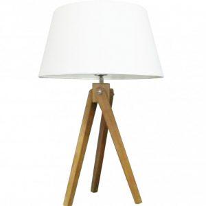 Stolová lampa Tripod 64cm biela Retro
