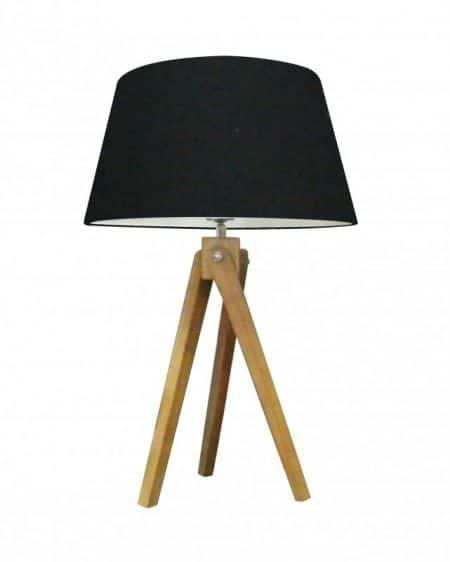 Stolová lampa Tripod 64cm čierna Retro