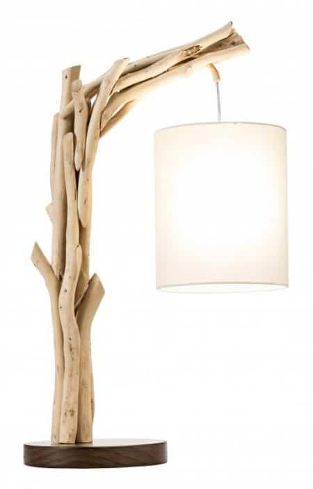 Stolová lampa Wild Nature 60cm naplavené drevo
