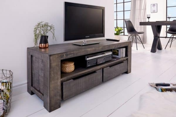 TV Board Iron Craft 130cm sivá Mango