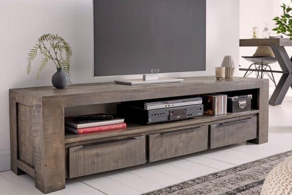 TV Board Iron Craft 170cm sivá Mango