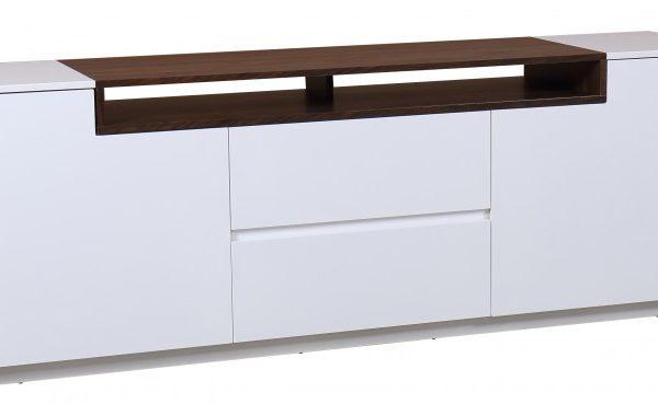 TV-stolík Loft 180cm biela Walnuss