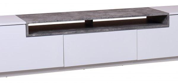 TV-stolík Loft 180cm biela betón