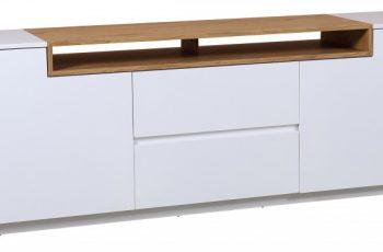 TV-stolík Loft 180cm biela dub