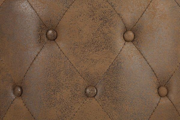 Taburet Chesterfield 60cm antik hnedá rund